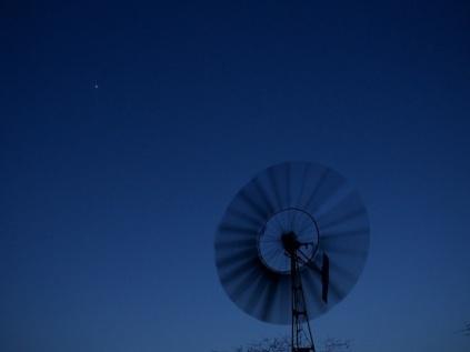 Stars and a water pump turbine