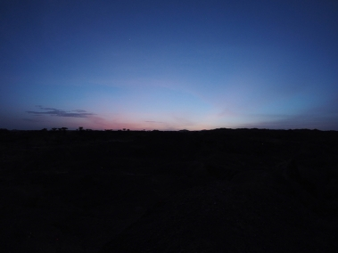 Sunset afterglow near Lomekwi 3