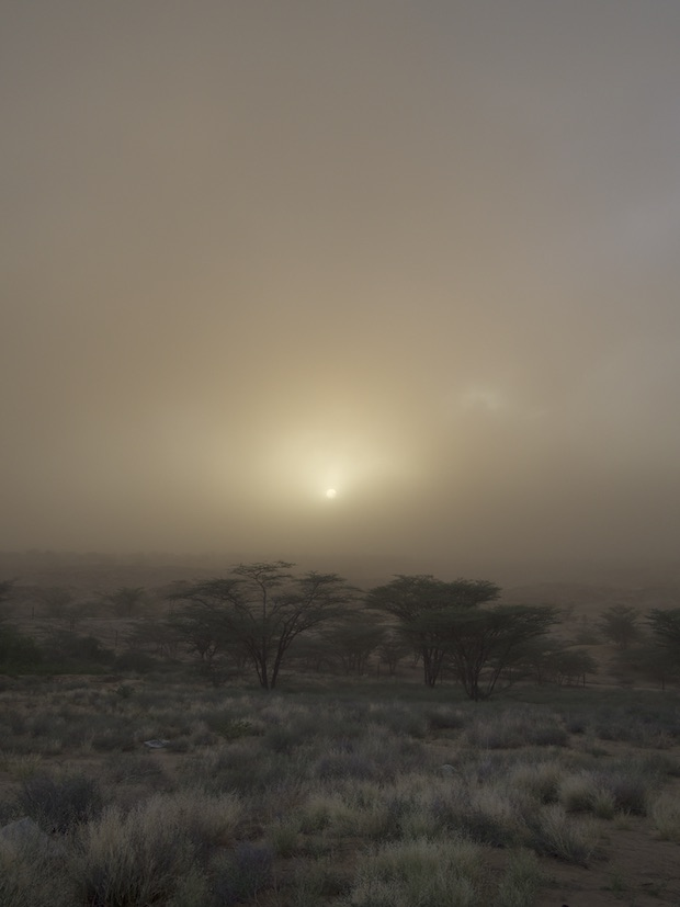 The sun blotted out by a dust storm at TBI Turkwel