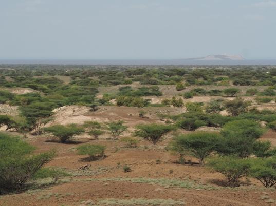 View of Lake Turkana and North Island