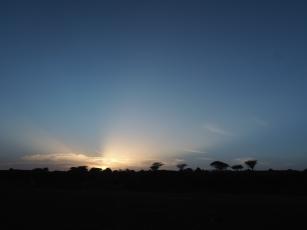 Sundown at Nariokotome town