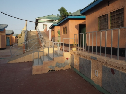 The colours and crazy layout of the Lodwar Lodge